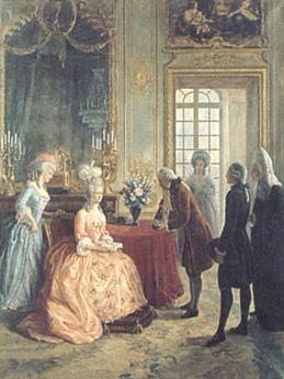 マリー・アントワネットにシャンパンを献上するFlorens-Louis Heidsieck