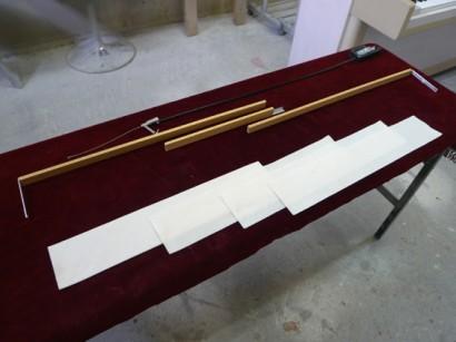 ピアノ弱音器の部品